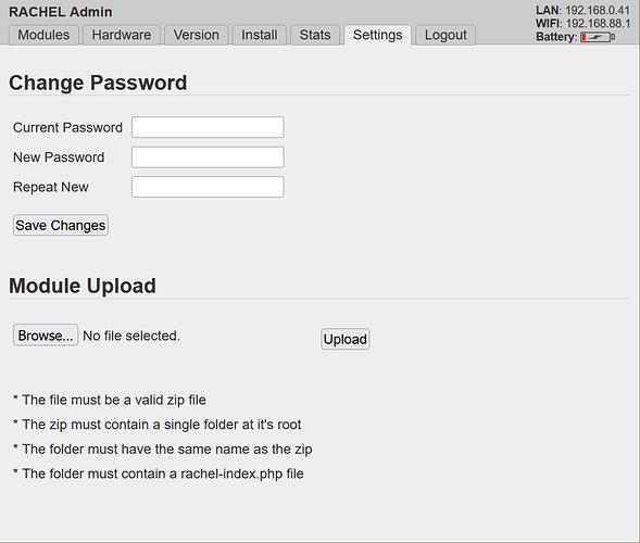 RACHEL upload utility