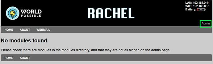 RACHEL Main page
